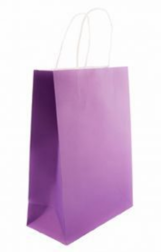 05ae34909 Purple And White Purple Color White Kraft Carrier Bag, Rs 6 /piece ...