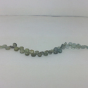 Natural Moss Aquamarine Heart Plain Smooth Briolette Bead