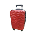 Red Abs Plastic Luggage Trolley Bag