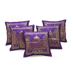 Tajmahal Design Quilted Cushion Cover 205