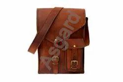 Brown Goat Leather Ladies Messenger Satchel Bag, Satchel Messenger Bag, Size: 9 X 11