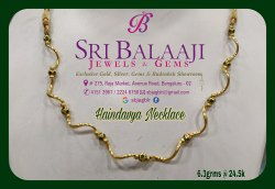 SBJAGBLR Gold Haindavya Necklace