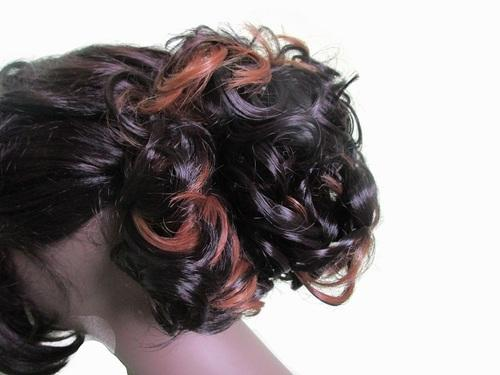 90e2bf3335f Wigowig Fancy Highlighted & Curly Messy Hair Bun For Ladies, For Hair  Extension