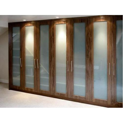 Modern Hinged Frosted Glass Bedroom Wardrobe Rs 1100 Square Feet