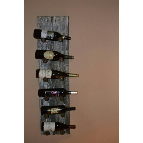 Wood Brown Wall Mount Wine Bottle Rack For Home And Office Rs 2500