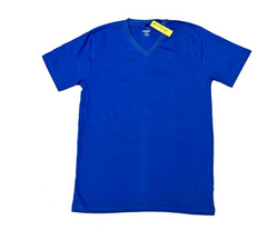 Xl And Large Blue Namakool Men's Plain V Neck T-shirt