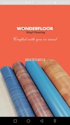 SBE Rectangular Wooden Finish PVC Carpet, Size: 6.5ft &5 Ft, Packaging Type: Roll