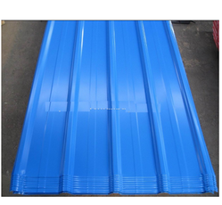 Blue Metal Trapezoidal Steel Roofing Sheets
