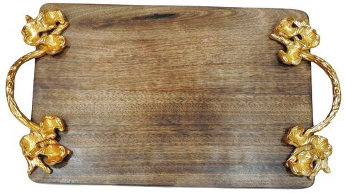 Decorative Platters - Wooden Tray Manufacturer from Moradabad