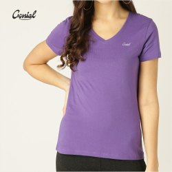V Neck Cotton T-shirt For Women (160 GSM)