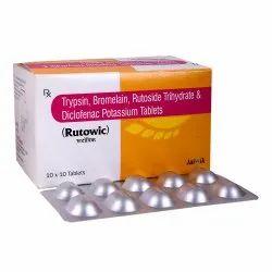 Rutoside 100 mg Trypsin 48 mg Bromelain 90 mg Diclofenec 50 mg Tab