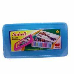 Plastic Edible Saheli Thread & Needle Box, For Apparel, Box Capacity: 0.500