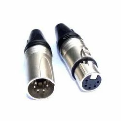 5 Pin XLR Male-Female Connector, For Audio & Video, Packaging Type: Box