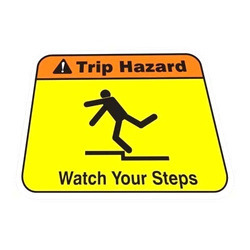 Night Glow PVC Caution Tripping Hazard Warning Signs, Thickness: 6 Mm, Shape: Square