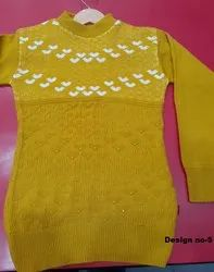 Female Girls woolen top, Size: 22 To 34