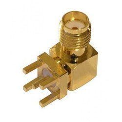 Online Techno Brass SMA Right Angled Connector