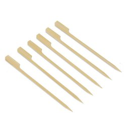 EcoRev Wheatish Disposable Wooden Gun Chopsticks, For Restaurant, Size: 4, 8 & 10