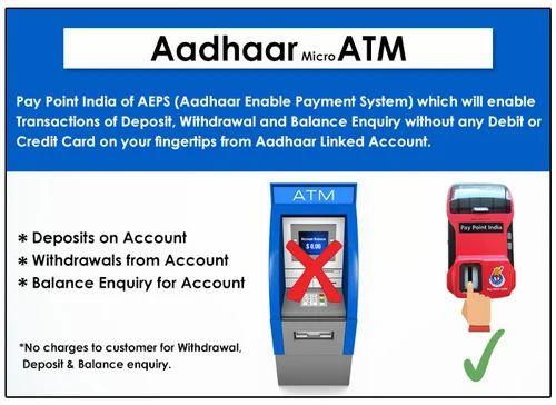 Aadhar Enabled Mini Atm Machine