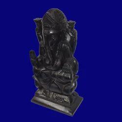 Black Stone Marble Ganesha Statue