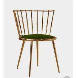 Modern Brown Metal Chair, Back Style: High Back, 36''