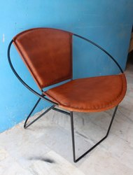 Dining Iron Hoop Frame Side Lounge Chair for Home