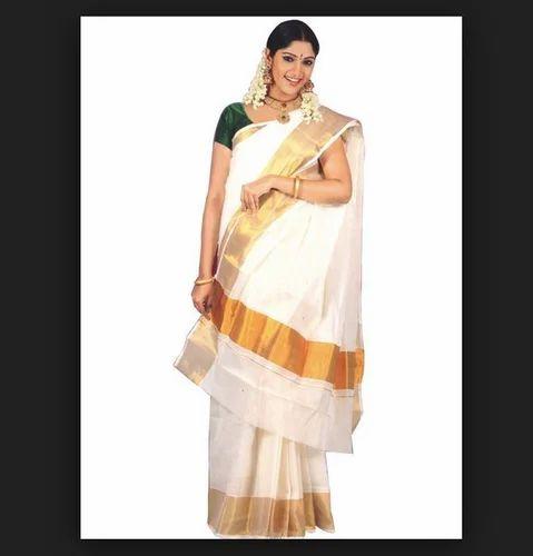 Diffe Colors Available Party Wear Wedding Kasavu Kerala Saree