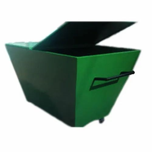 Fibreglass Green Industrial Dustbin