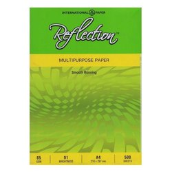 White A4 65 Gsm Reflection Multipurpose Copier Paper, For Printing, Packaging Size: 500 Sheets per pack