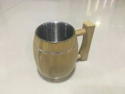 Wooden Mugs with SS coating