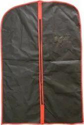 Men's Eco Coat Blazer Cover Suit Cover Foldover Breathable Garment Bag (Black)