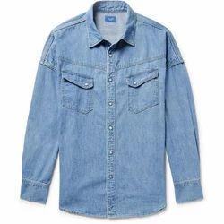Denim Casual Wear Designer Men Shirt