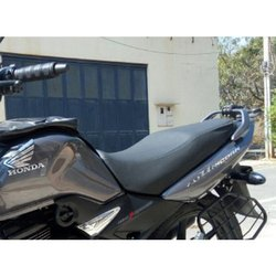 Black Rexine Seat Cover- Honda CB Unicorn 160