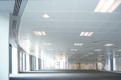 Coated White Metal Ceiling - 2x2 Lay-In / Clip-in type, Thickness: 0.5 mm