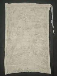 Cotton Drawstring Mesh Bag