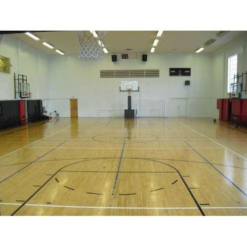 Wooden Indoor Basketball Court Flooring Size Area 94 X50 Feet Rs 260 Square Feet Id 14391318562