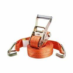 Orange Ratchet Lashing Belt With Double J Hooks