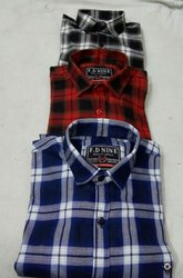 Being trust Twill Cotton Check Shirt