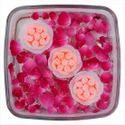 3 Floating Flower Candles DD405