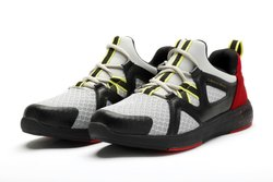 Mens Grey With Red Neoprene Running Shoes
