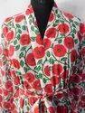 Hand Block Printed Kaftan Women Kimono Robe Gown