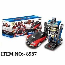 塑料机器人车玩具