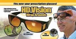 Square Brown HD Vision Unisex Wrap Arounds Day Night Sun Glasses UV Protected