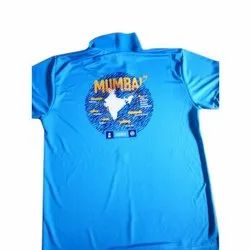 Colored Cotton Half Sleeves T Shirt Printing Services