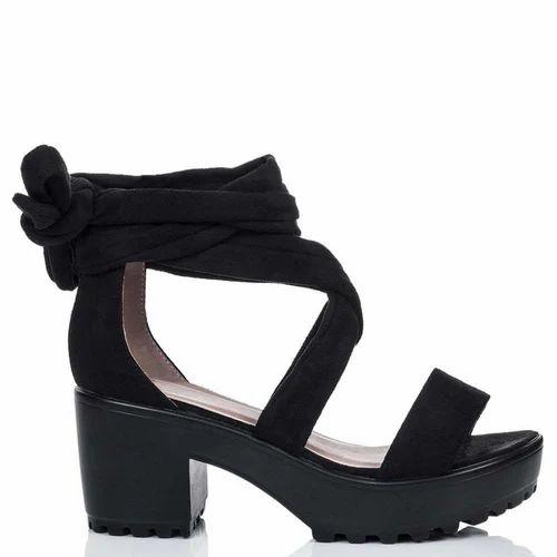 Black Ruby Casual High Heel Sandal