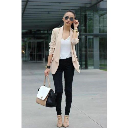 c08eec285276c Plain Ladies Jeans And Top With Jacket