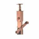 Stainless Steel Wooden Rose Gold Finish Railing Pillar