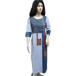 Ladies Printed Muslin Silk Kurti