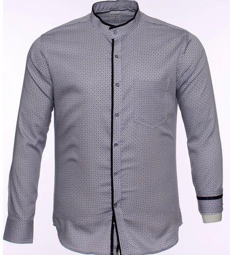ec585bc5 S10158 Grey Formal Shirt With Polka-Dots at Rs 995 /piece   Mens ...