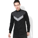 Mens Black Club Wear Shirt