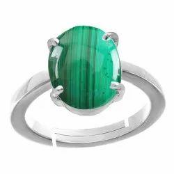 Malachite Silver Rings Gemstone